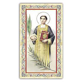Santino Santo Stefano 10x5 cm ITA s1