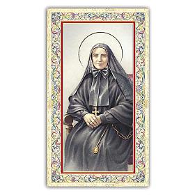 Santino Santa Francesca Cabrini 10x5 cm ITA s1
