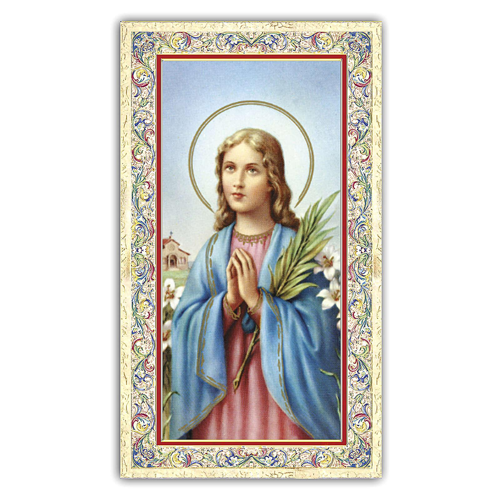 Holy card, Saint Maria Goretti, Prayer ITA, 10x5 cm 4