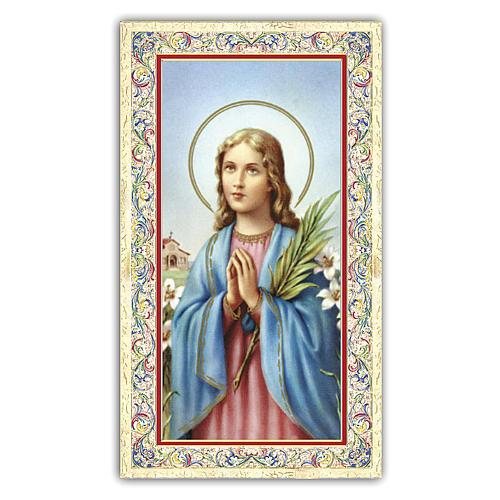 Holy card, Saint Maria Goretti, Prayer ITA, 10x5 cm 1