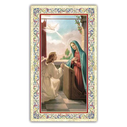Santino Annunciazione a Maria 10x5 cm ITA 1