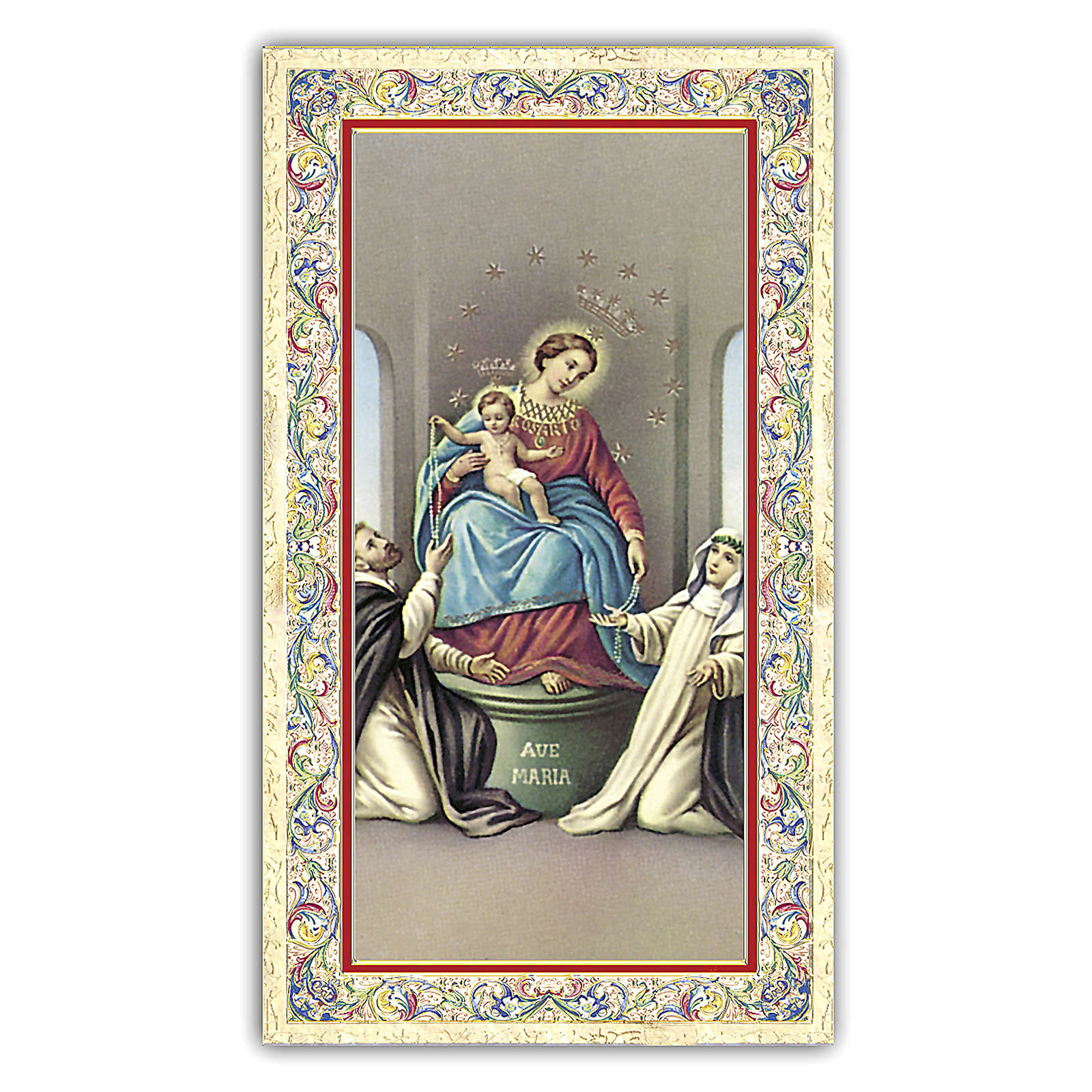Holy card, Our Lady of Pompeii, Prayer ITA 10x5 cm 4