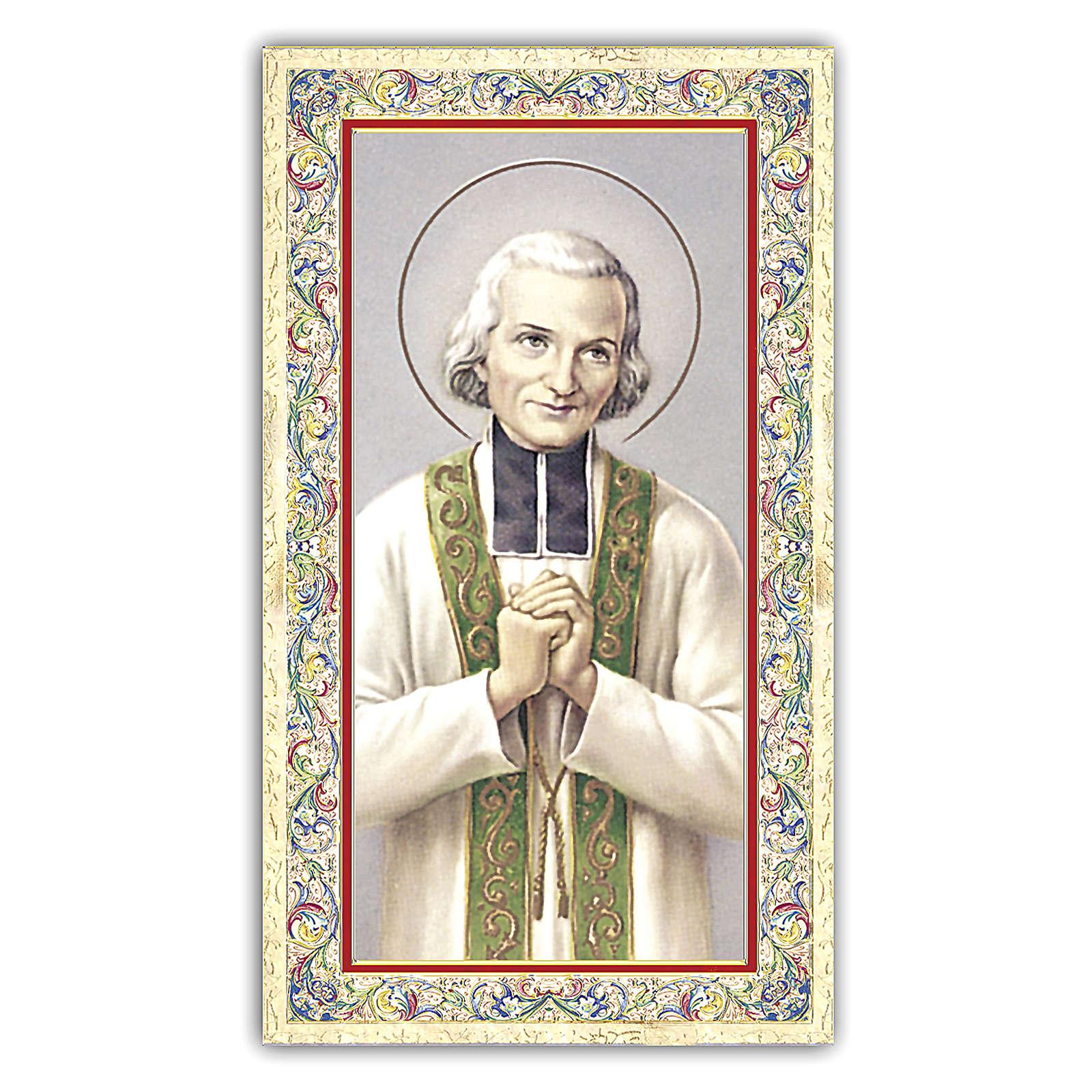 Holy card, Saint John Vianney, Prayer ITA 10x5 cm 4