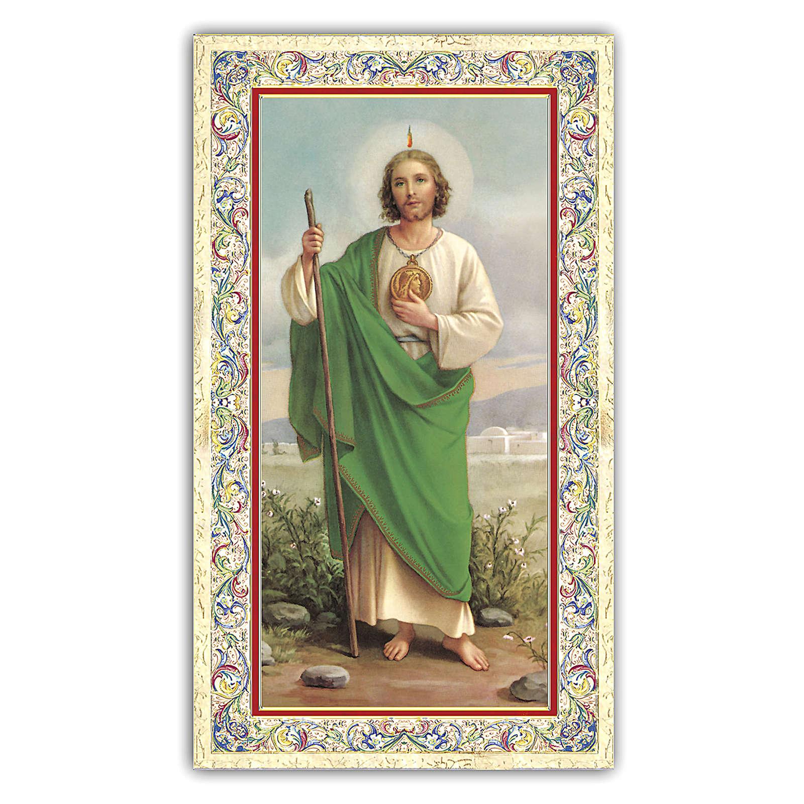 Holy card, Saint Judas, Prayer ITA 10x5 cm 4