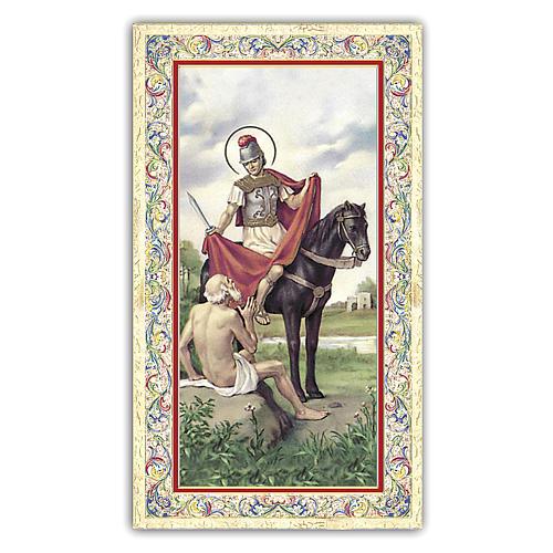 Estampa religiosa San Martín 10x5 cm ITA 1