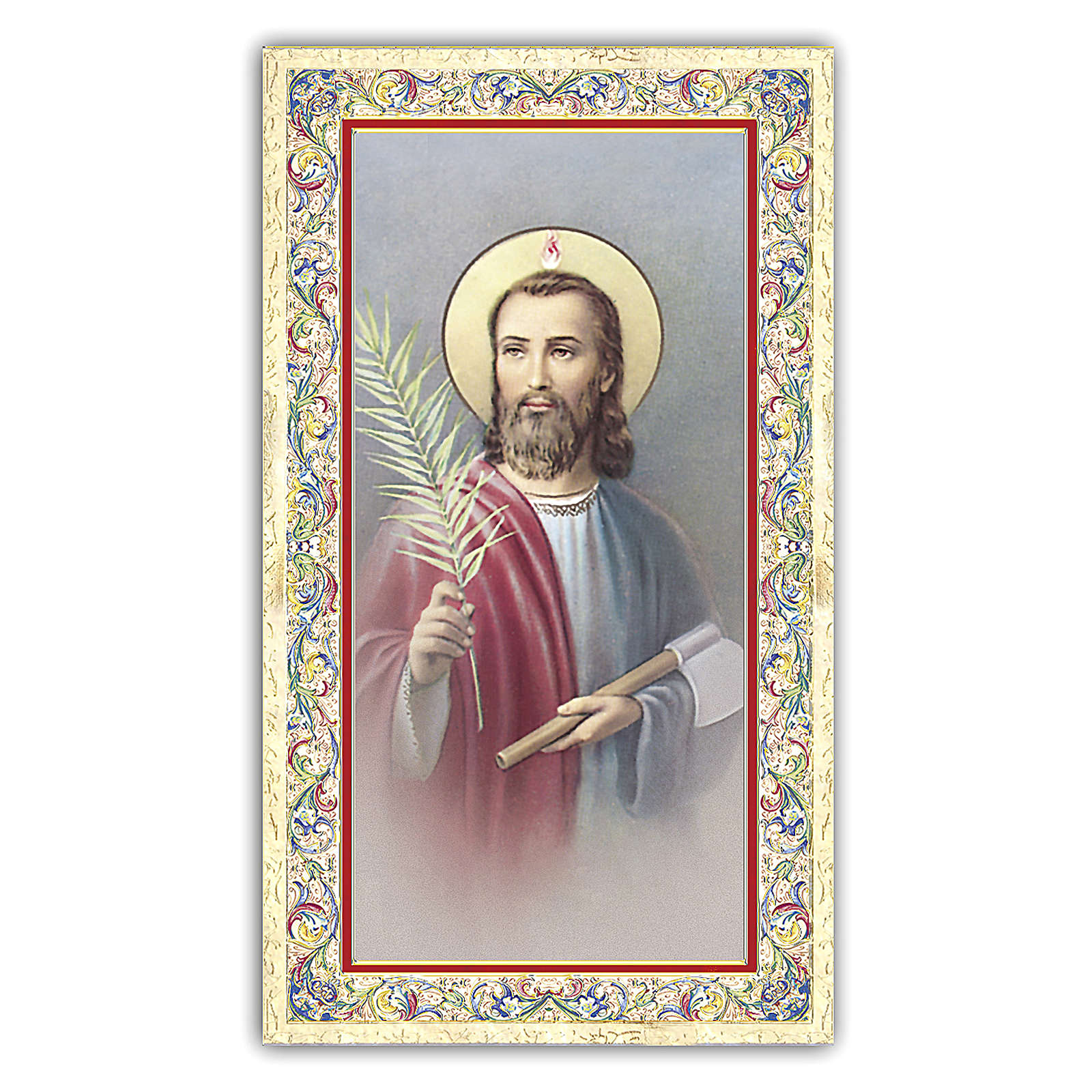 Holy card, Saint Judas Thaddeus, Prayer ITA 10x5 cm 4