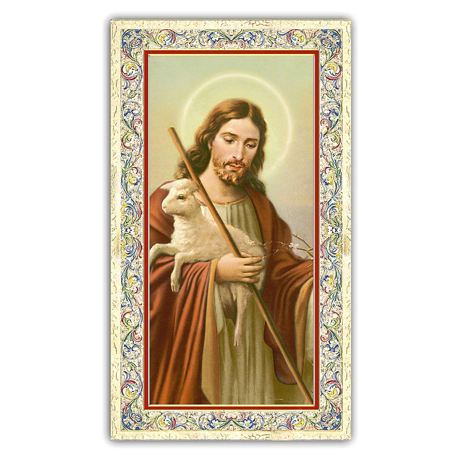 Santino Gesù Buon Pastore 10x5 cm ITA 4