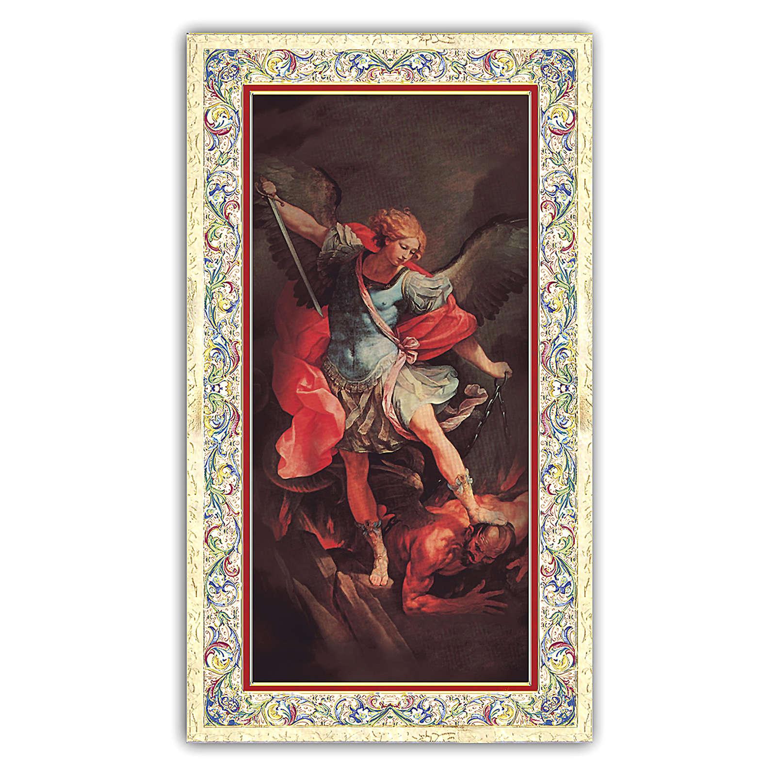 Estampa religiosa San Miguel Arcángel 10x5 cm ITA 4