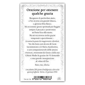 Santino Don Bosco 10x5 cm ITA s2