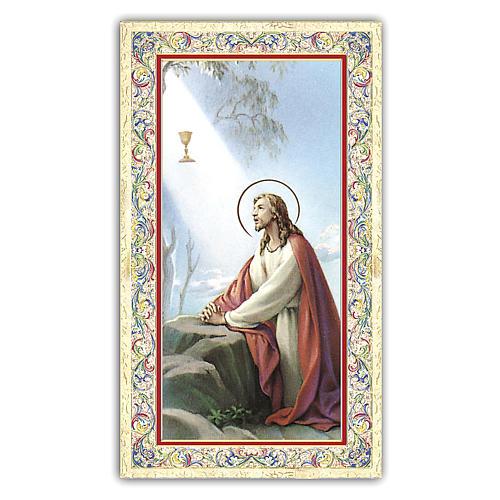 Estampa religiosa Jesús en el huerto de Getzemani 10x5 cm ITA 1