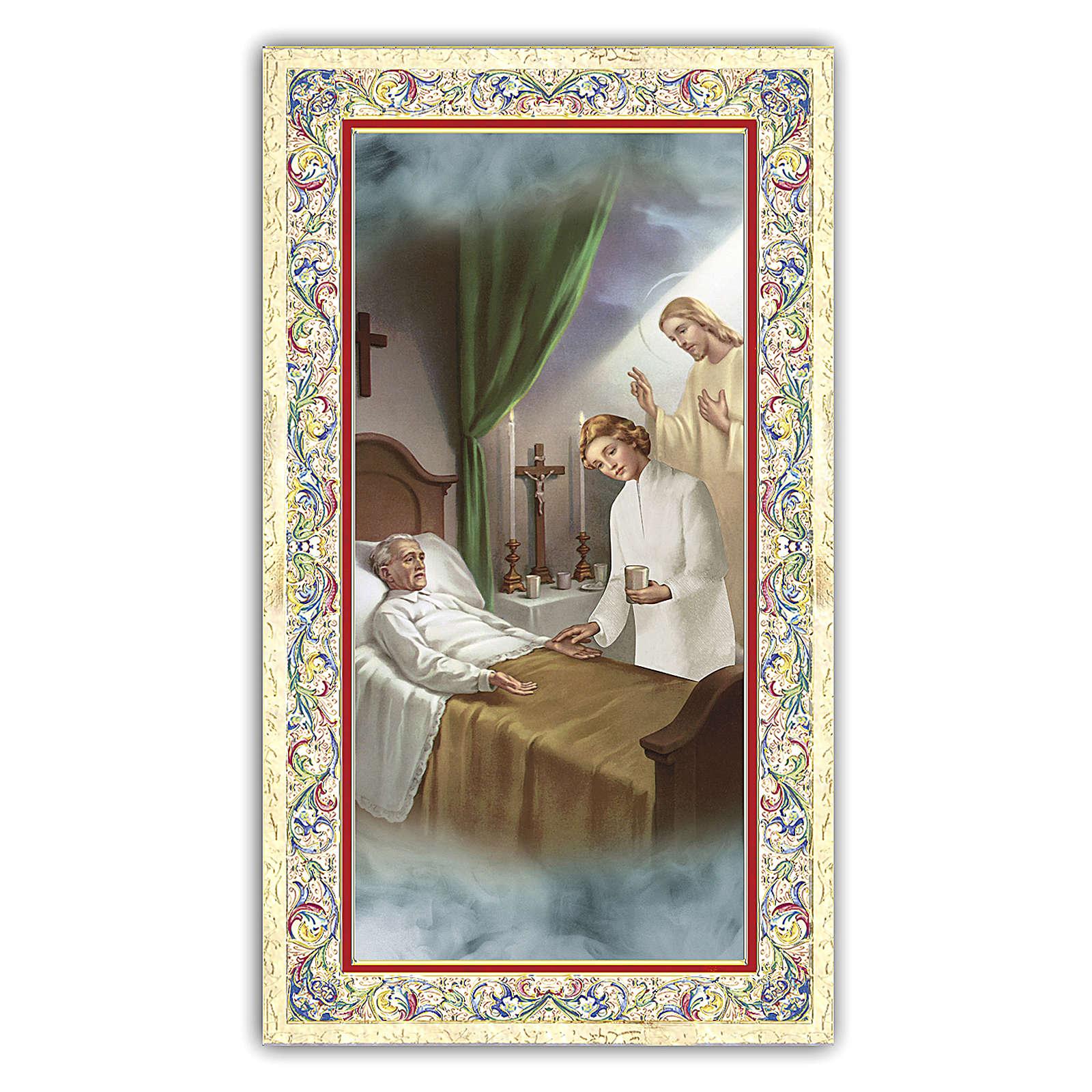 Santino l'immagine simbolica di Gesù al capezzale di un malato 1 ITA 4