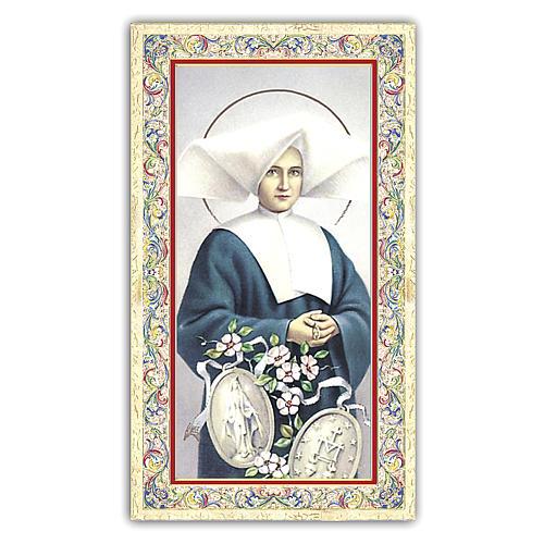 Santino Santa Caterina Labourè 10x5 cm ITA 1