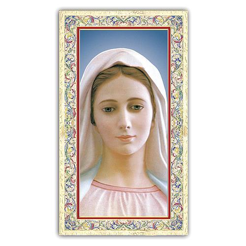 Estampa religiosa Virgen de Medjugorje 10x5 cm ITA 1