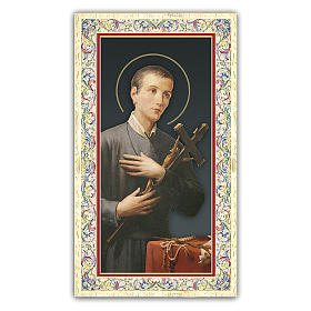 Holy card, Saint Gerard Majella, Prayer ITA 10x5 cm s1