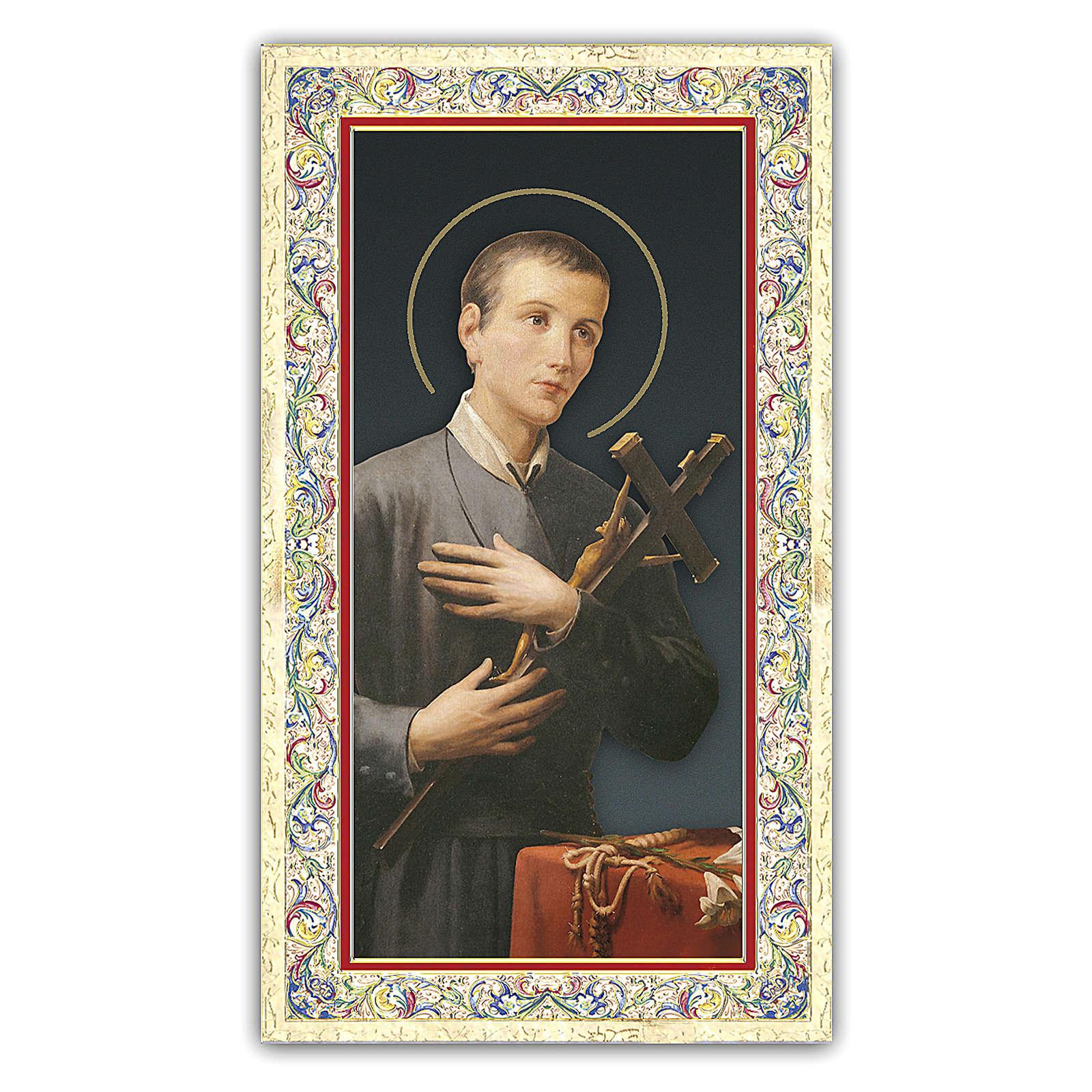 Estampa religiosa San Gerardo de la Maiella 10x5 cm ITA 4