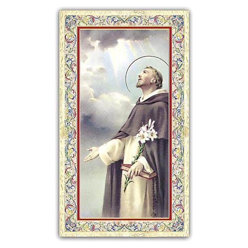 Estampa religiosa Santo Domingo 10x5 cm ITA 1