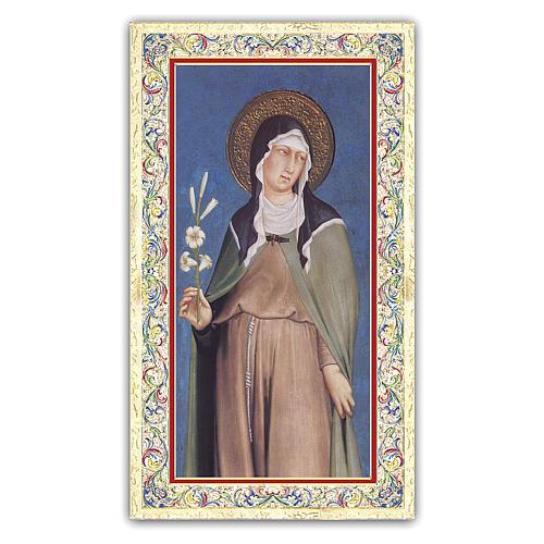 Holy card, Saint Clare, Saint Clare's Prayer ITA 10x5 cm 1