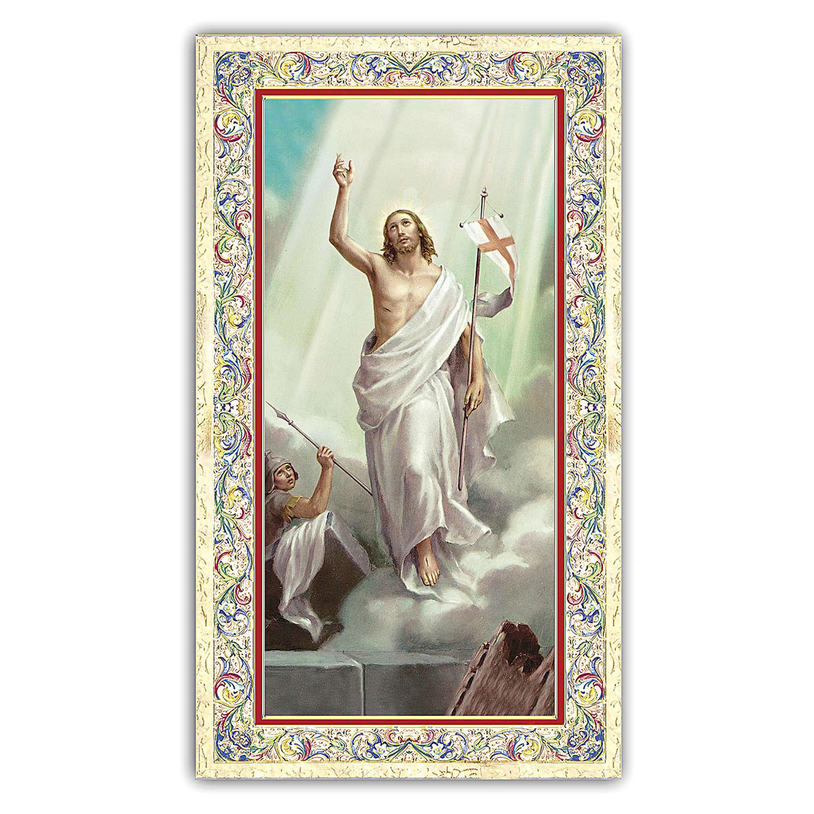 Estampa religiosa Jesús Resucitado  10x5 cm ITA 4