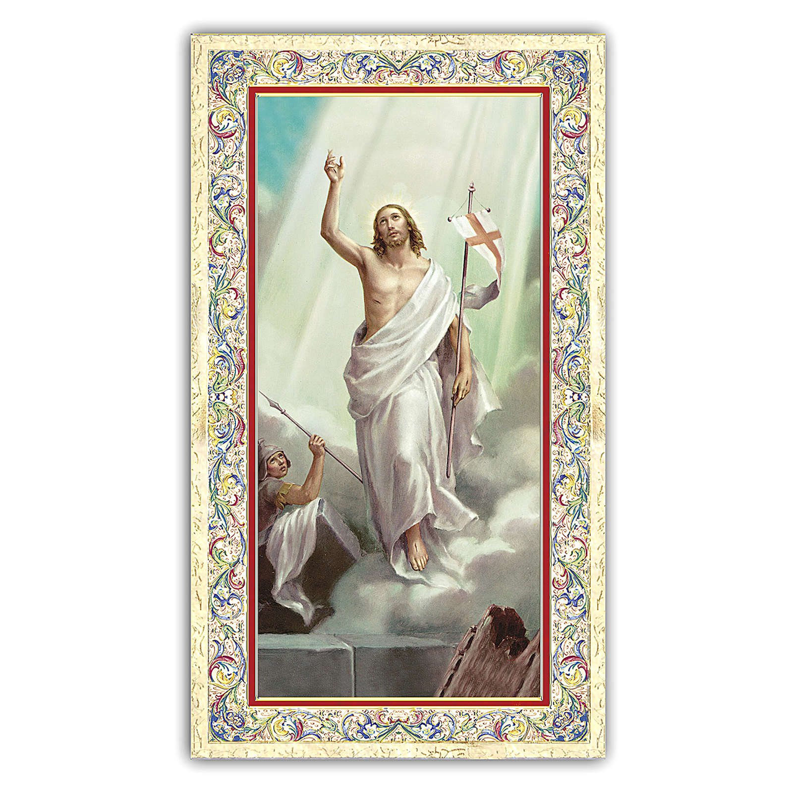 Santino Gesù Risorto 10x5 cm ITA 4