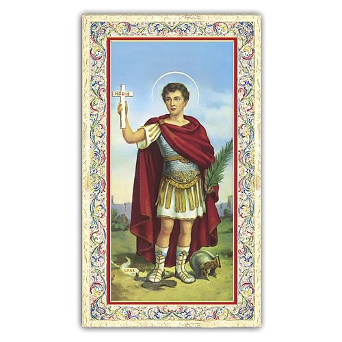 Estampa religiosa San Expedito 10x5 cm ITA 1