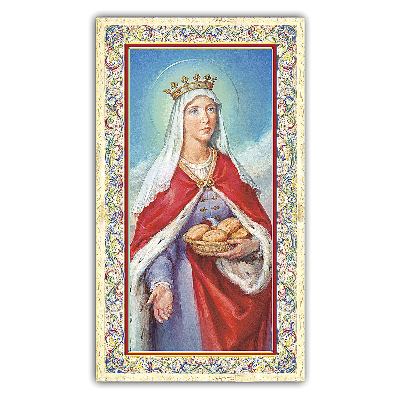 Holy card, Saint Elizabeth of Hungary, Prayer ITA, 10x5 cm 4