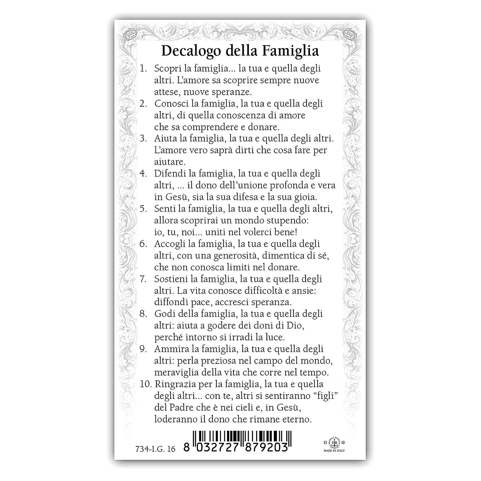 Image dévotion Sainte Famille 10x5 cm 4