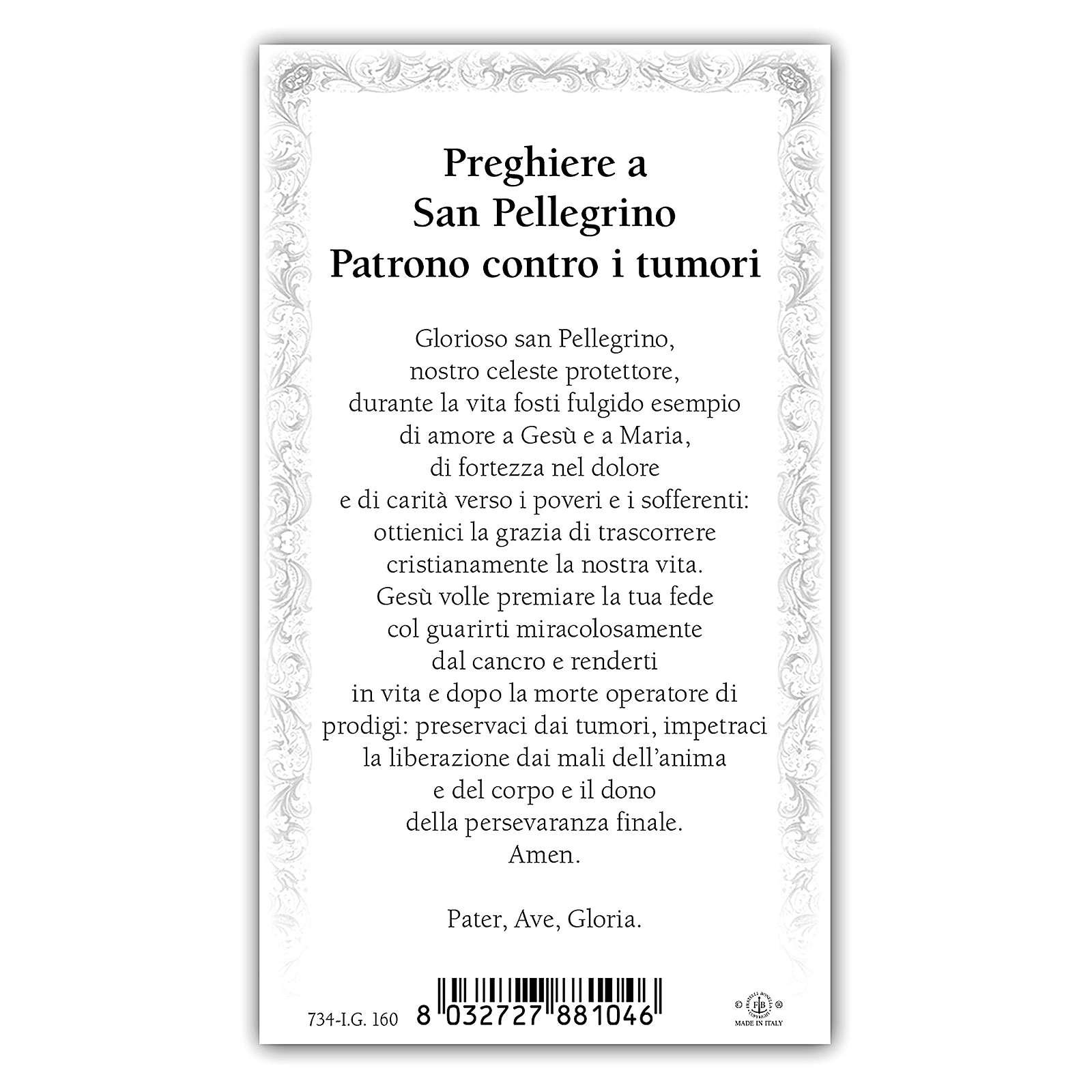Santino San Pellegrino 10x5 cm ITA 4