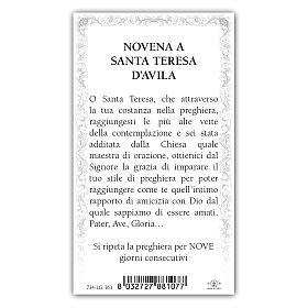 Holy card, Saint Teresa of Avila, Novena ITA, 10x5 cm s2
