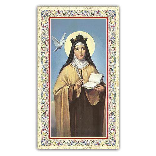 Holy card, Saint Teresa of Avila, Novena ITA, 10x5 cm 1