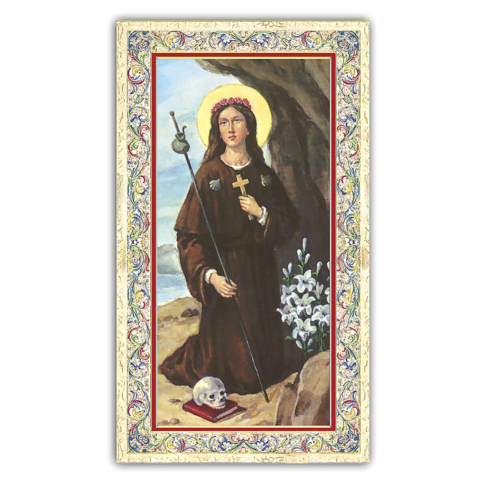 Santino Santa Rosalia 10x5 cm ITA 4