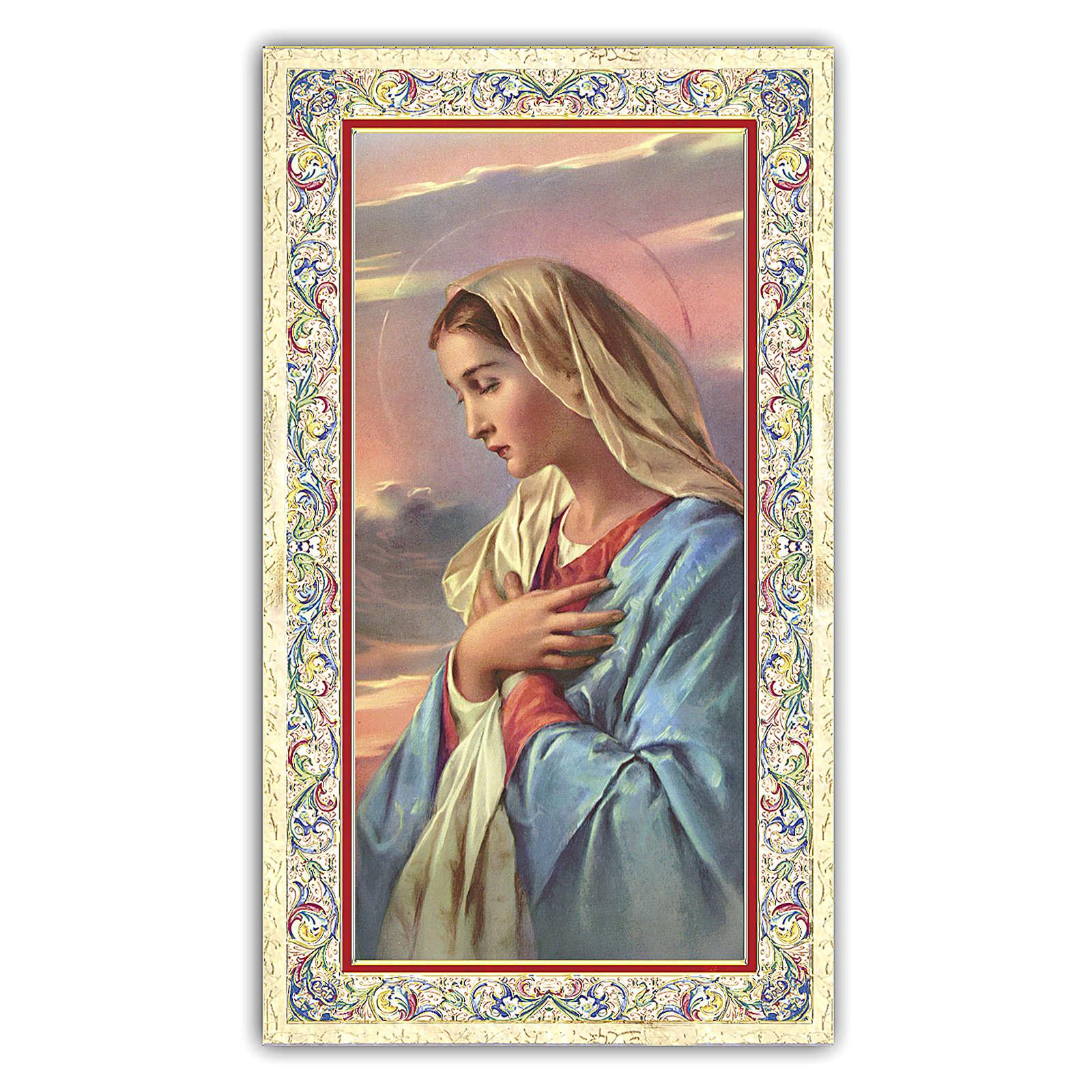 Santino Madonna in preghiera 10x5 cm ITA 4