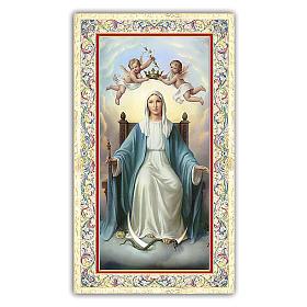 Santino Madonna in trono 10x5 cm ITA s1
