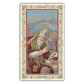 Santino Sant'Alfonso Maria de  Liguori 10x5 cm ITA s1