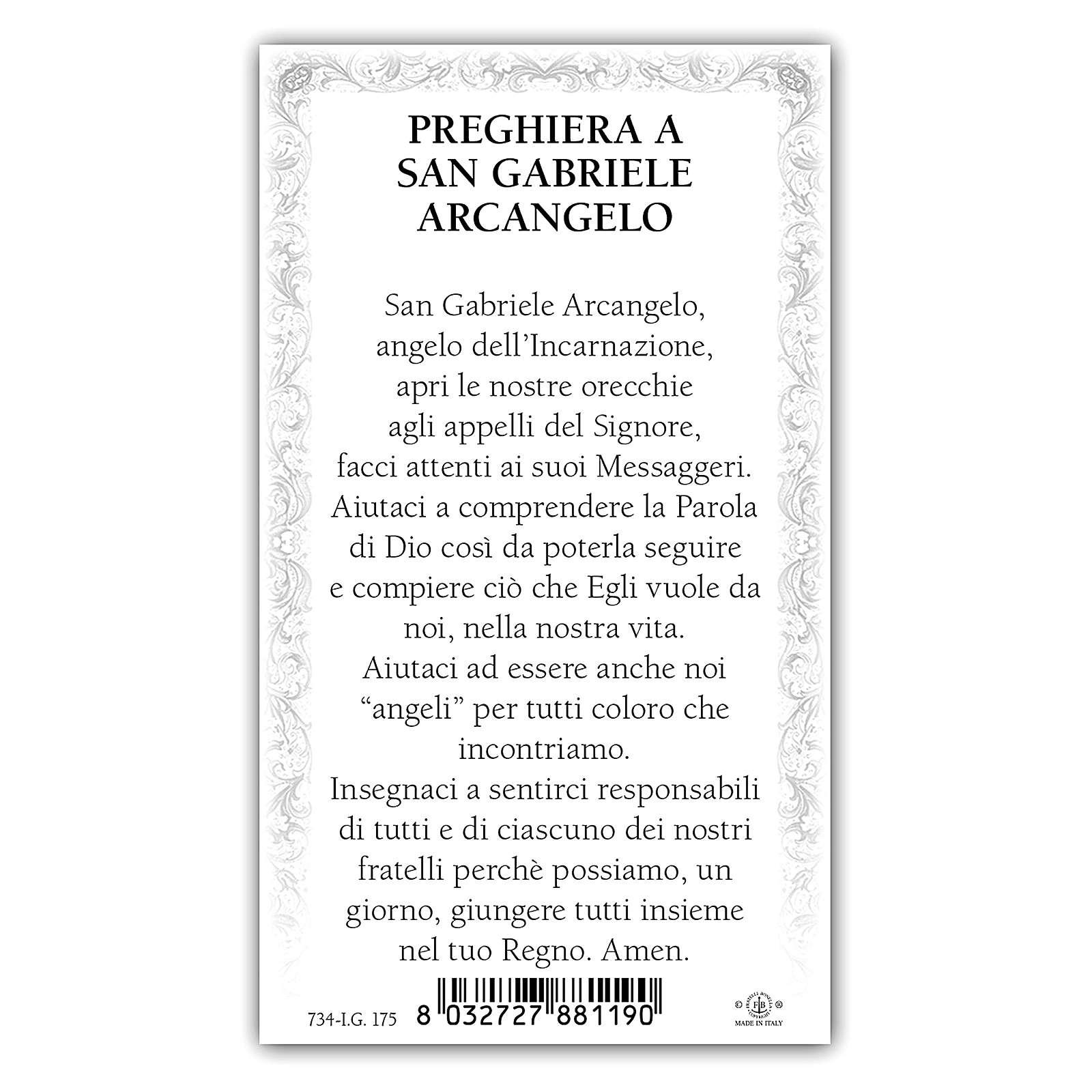 Santino Arcangelo Gabriele 10x5 cm ITA 4