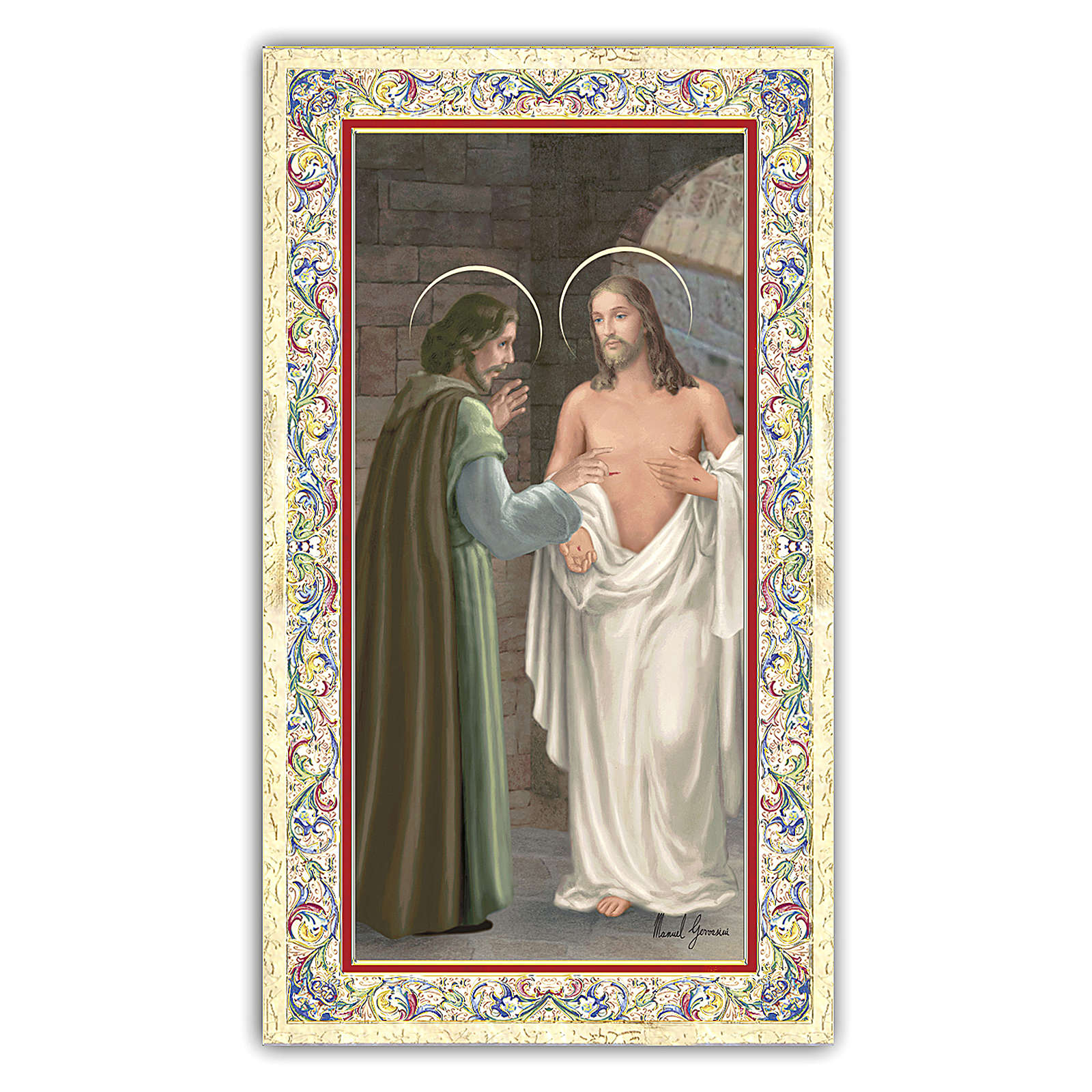 Santino San Tommaso Apostolo 10x5 cm ITA 4