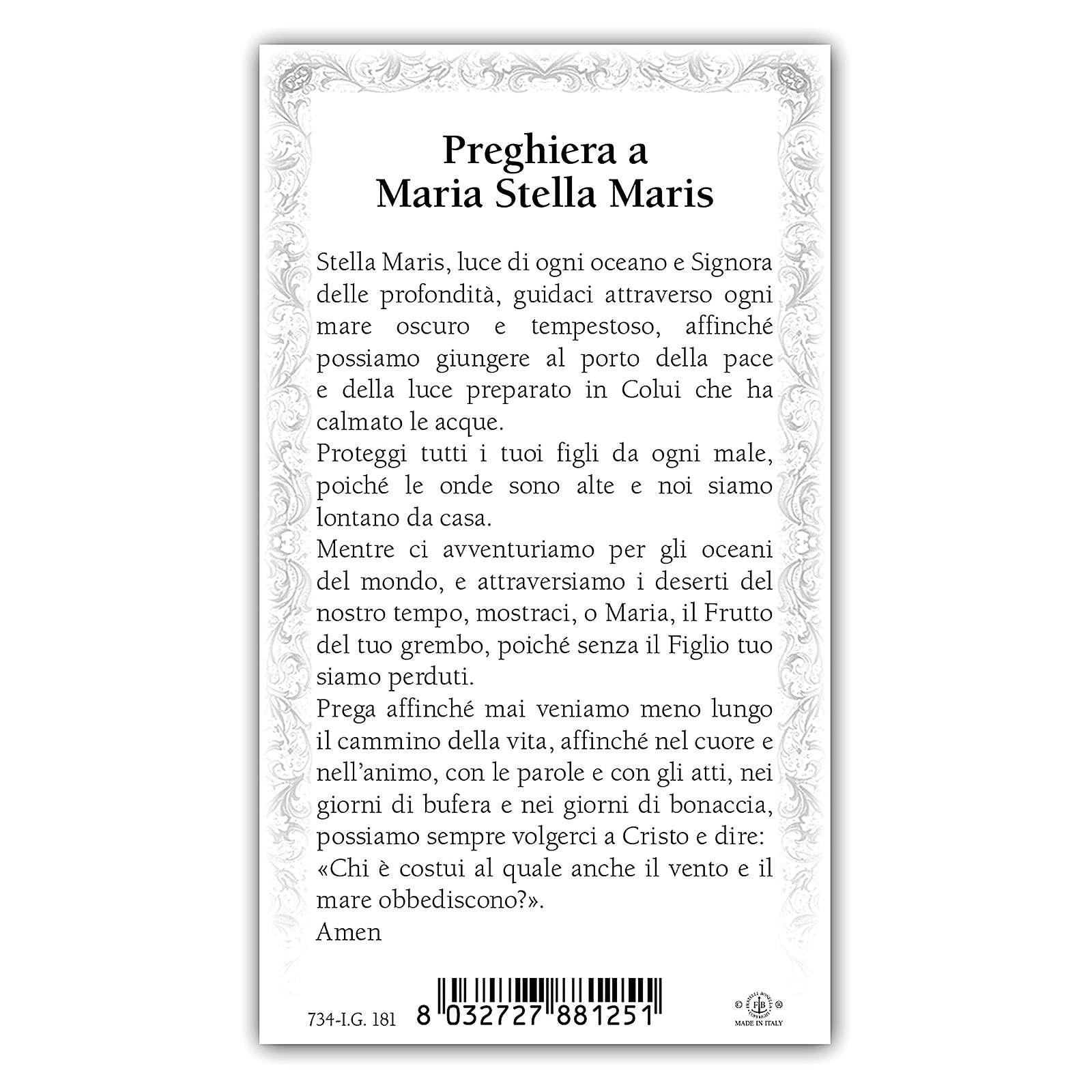 Santino Maria che sorge dal Mare 10x5 cm ITA 4