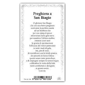 Holy card, Saint Blaise, Prayer ITA, 10x5 cm s2