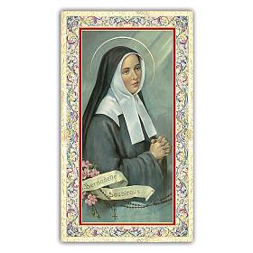 Image de dévotion Ste Bernadette 10x5 cm s1