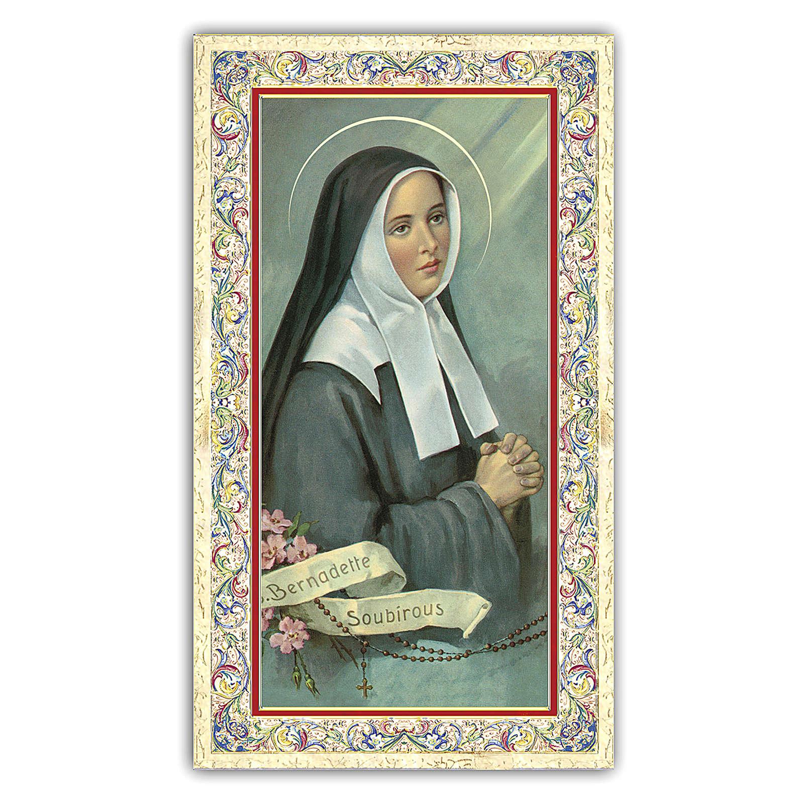 Holy card, Saint Bernadette, Prayer ITA, 10x5 cm 4