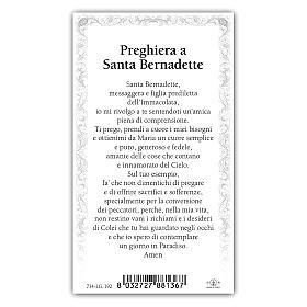 Holy card, Saint Bernadette, Prayer ITA, 10x5 cm s2