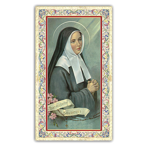 Holy card, Saint Bernadette, Prayer ITA, 10x5 cm 1