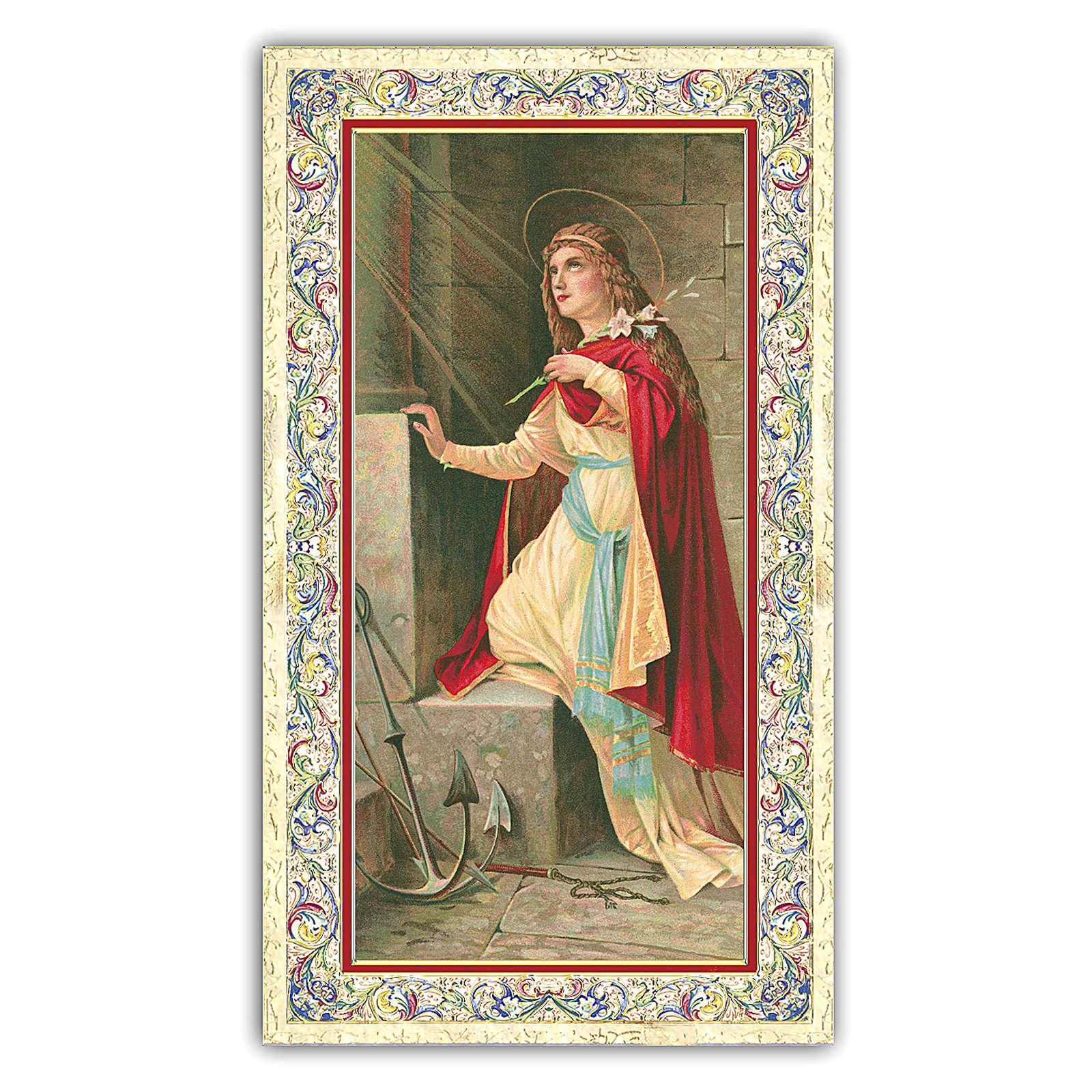 Holy card, Saint Philomena, Prayer ITA 10x5 cm 4