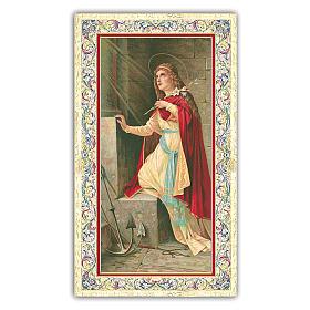 Holy card, Saint Philomena, Prayer ITA 10x5 cm s1