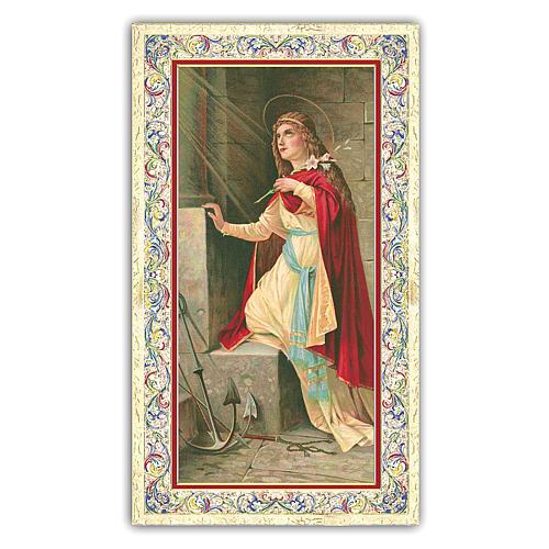 Holy card, Saint Philomena, Prayer ITA 10x5 cm 1