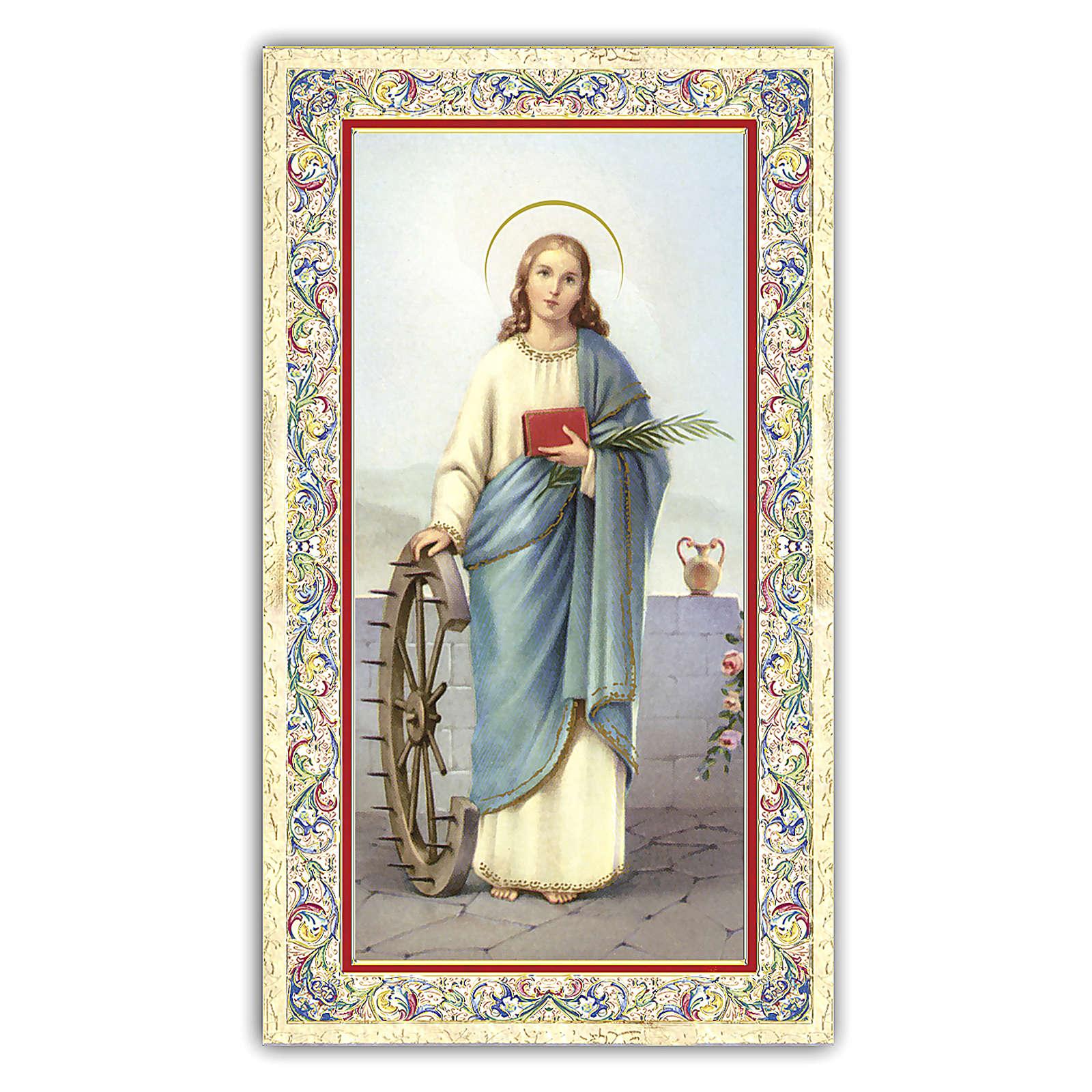 Santino Santa Caterina d'Alessandria 10x5 cm ITA 4