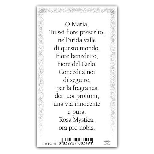 Santino Maria Rosa Mistica 10x5 cm ITA 2