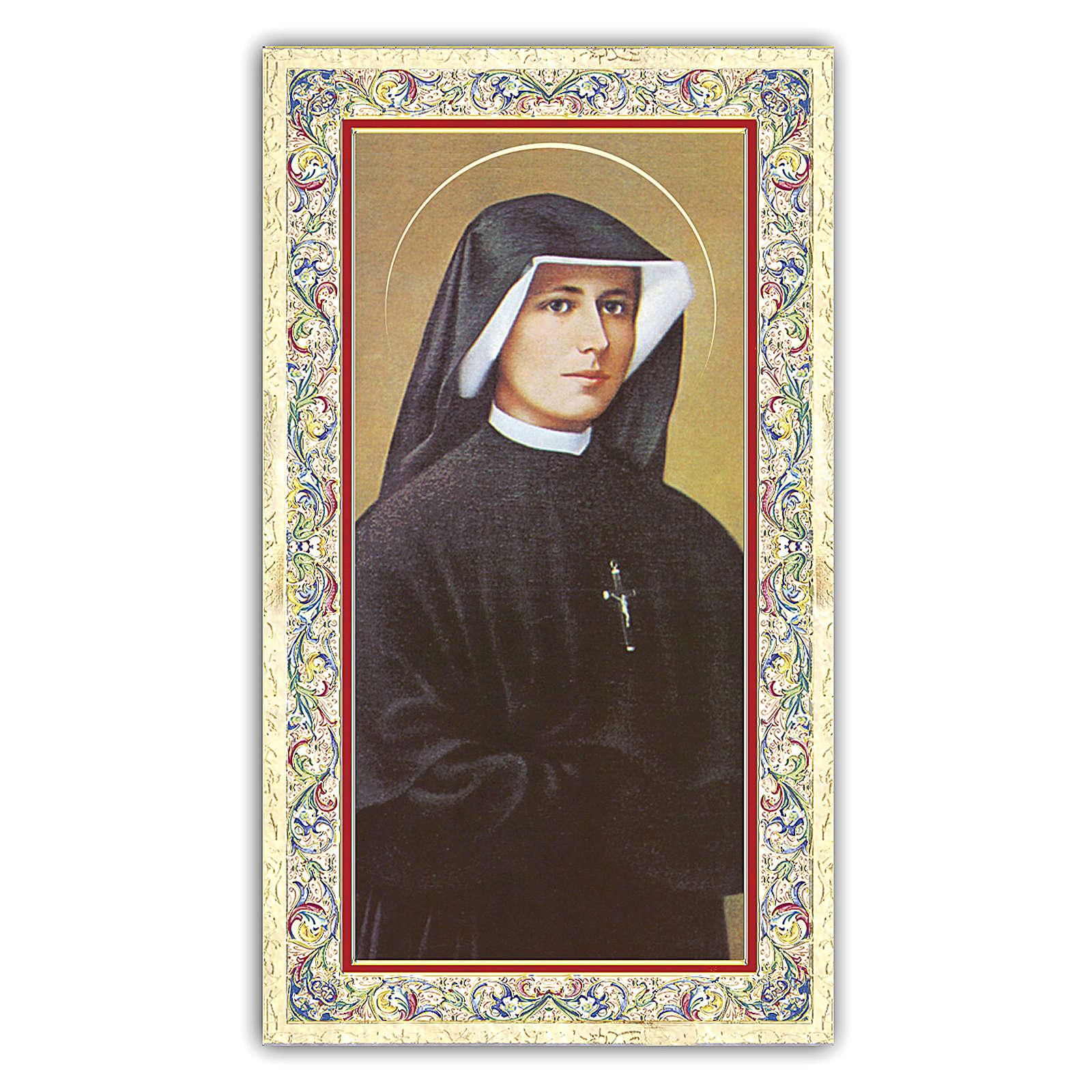 Estampa religiosa Sor Faustina Kowalska 10x5 cm ITA 4