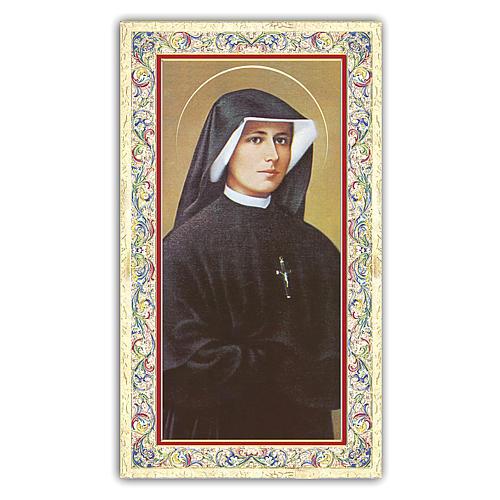 Estampa religiosa Sor Faustina Kowalska 10x5 cm ITA 1