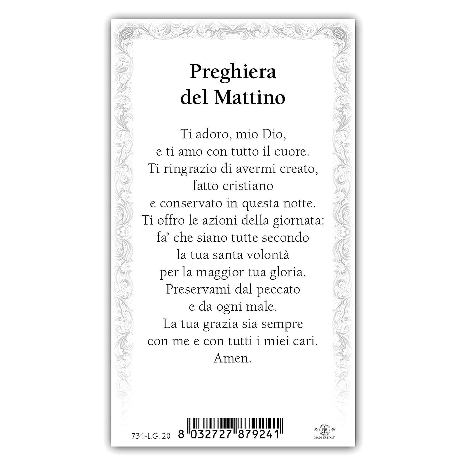 Santino Angioletto in Preghiera 10x5 cm ITA 4