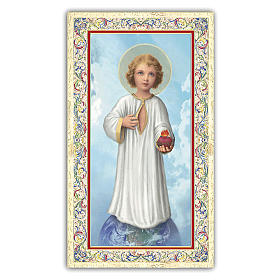 Santino Sacro Cuore di Gesù Bambino 10x5 cm ITA s1